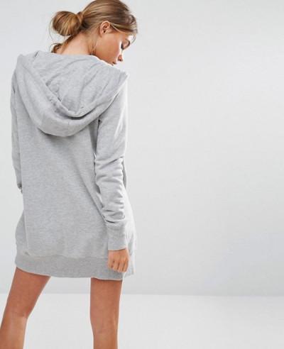 New Look Longline Zip Through Hoodie