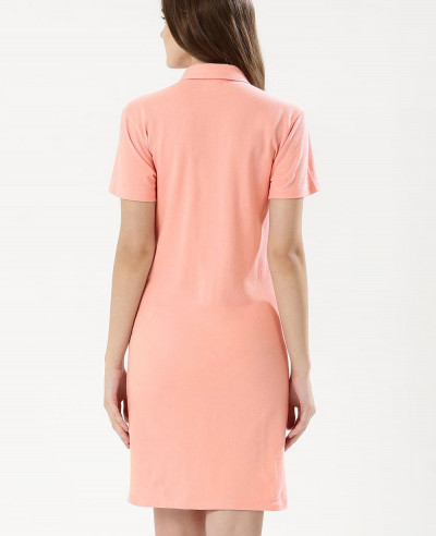 New look Pink Oversized Pocket Polo Shirt Dress