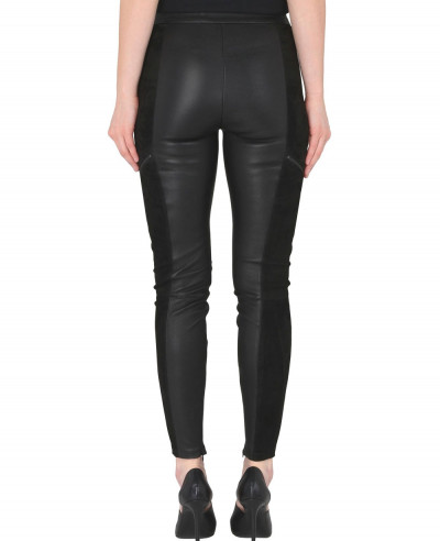 New-Look-Women-Biker-Leather-&-Suede-Legging