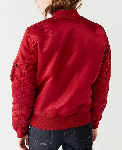 New-Look-Women-Burgundy-Satin-Bomber-Varsity-Jacket