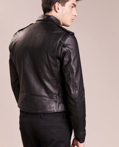 New Men Biker Stylish Leather Jacket