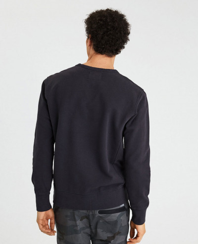 New Men Black Crew Neck Sweatshirt