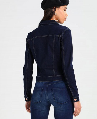 New Navy Blue Custom Denim Jacket