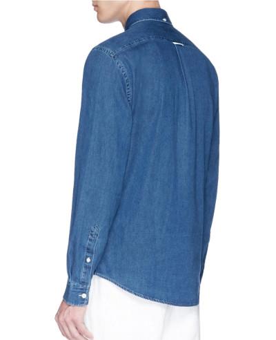 New-Navy-Blue-Men-denim-Shirt
