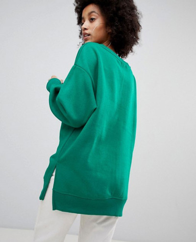 New Oversized Sweater In Green