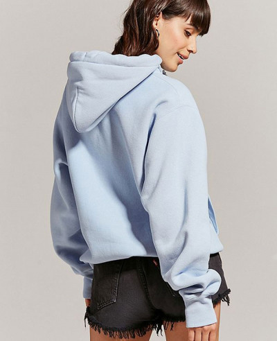 New Pullover Blue Graphic Hoodie Sweatshirt