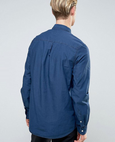 New-Stylish-Class-Denim-Shirt-Blue
