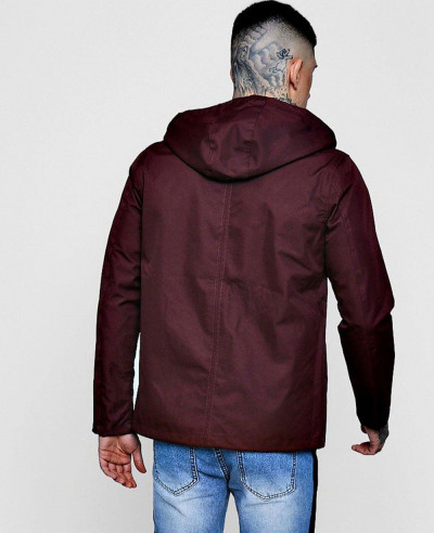 New stylish Contrast Lightweight Parka Windbreaker Jacket