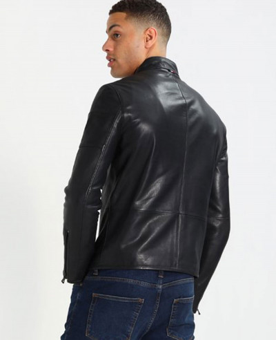 New Stylish Custom Men Biker Leather Jacket