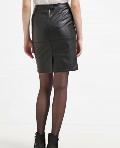 New-Stylish-Custom-Real-Leather-Pencil-Skirt