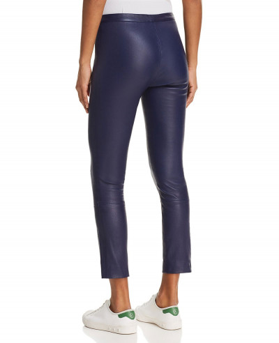 New-Stylish-Custom-Royal-Blue-Classic-Skinny-Biker-Leather-Pant