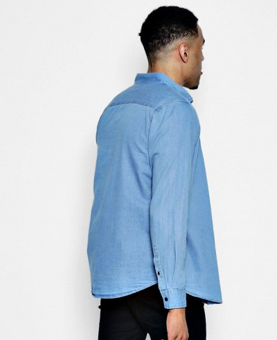 New Stylish Denim Shirt in Pale Blue