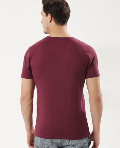 New Stylish Maroon Crew Neck T Shirt