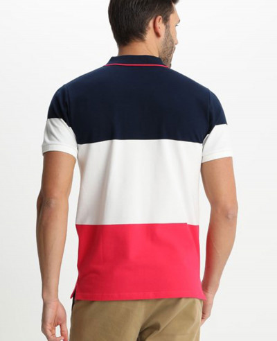 New Stylish Men Colour Block Polo shirt