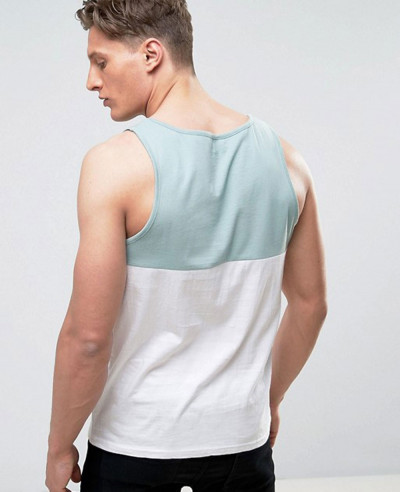 New Stylish Men Colour Block Vest Tank Top