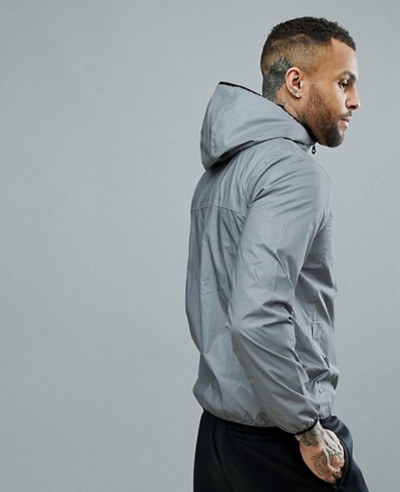New Stylish Men Grey Custom Windbreaker Jacket