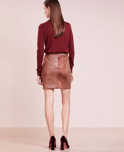 New-Stylish-Real-Suede-Mini-Skirt