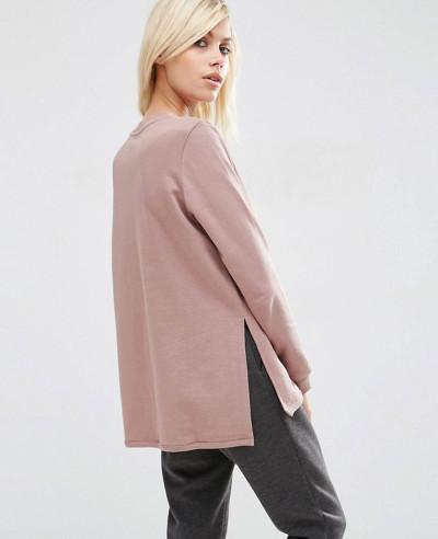 New-Stylish-Side-Split-Zipper-Women-Sweatshirt