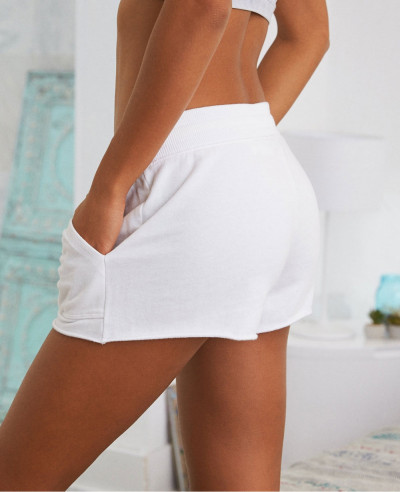 New-Stylish-Women-Fleece-White-Short