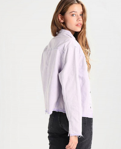 New Unisex Stylish Purple Denim Jacket