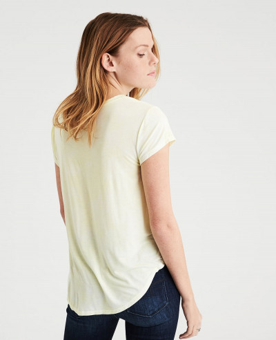 New-Women-Soft-Jersey-V-Neck-T-Shirt