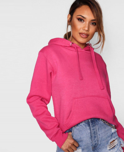 Online-Store-Pink-Pullover-Solid-Oversized-Hoody