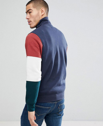 Originals-Sweatshirt-With-Retro-Block-Sleeve-Zipper-Neck