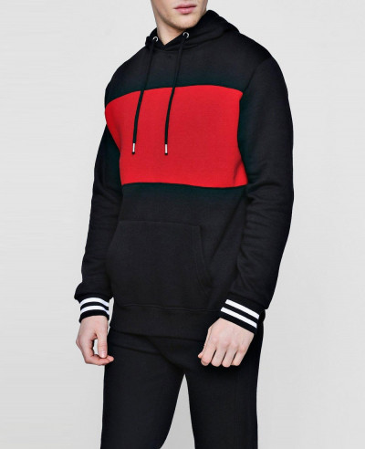 Over The Head Panel Pullover Tracksuit With Sports Rib