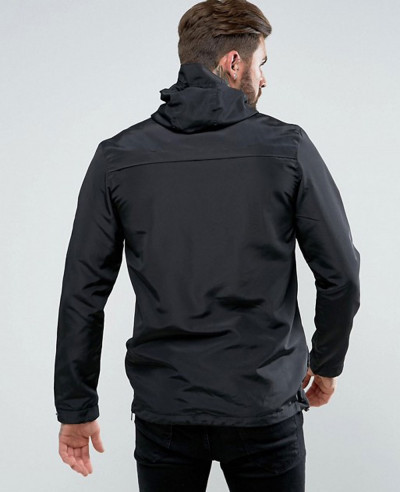 Overhead Windbreaker Jacket In Black