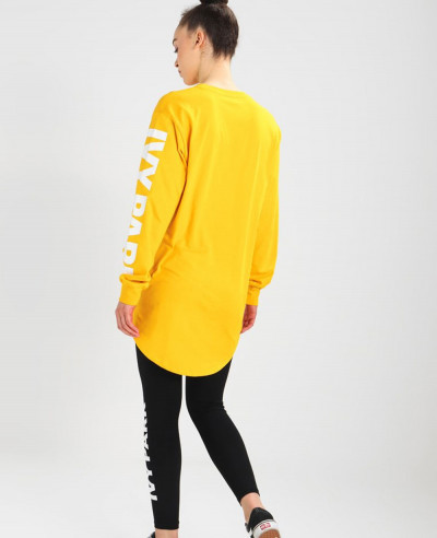 Oversized Yellow Long Sleeved Top T Shirt