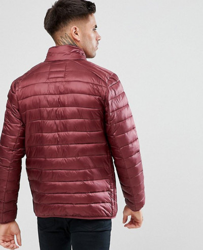 Padded Jacket In Burgundy
