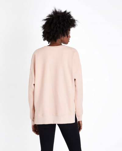 Pale Pink Brushed Slouchy Sweatshirt