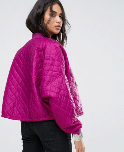 People Easy Quilted Bomber Jacket