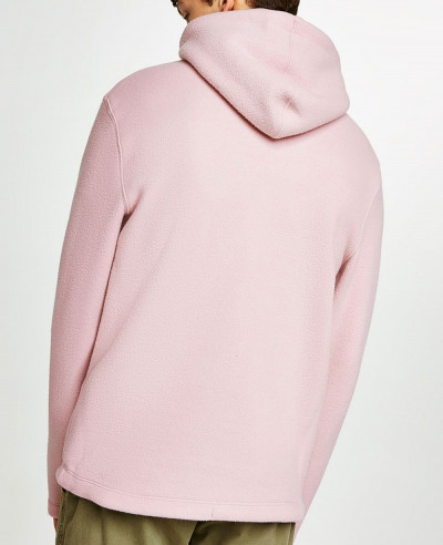 Pink-Pullover-Stylish-Men-Fleece-Hoodie