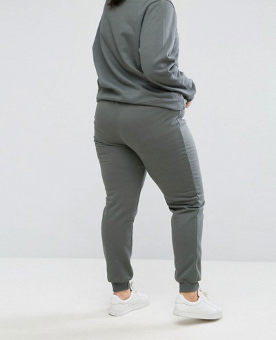 Plus Jogging Bottom In Sage Green Tracksuit