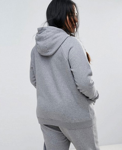 Plus Rally Pullover Hoodie In Grey