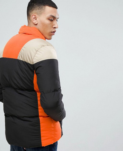 Puffer Jacket In Colour Block
