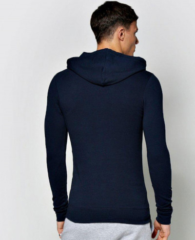 Pullover Muscle Fit Over The Head Hoodie