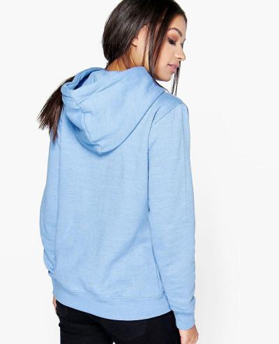 Pullover Overhead Blue Fleece Hoody