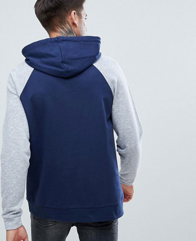 Pullover-With-Nep-Raglan-Sleeves-In-Navy-Hoodie