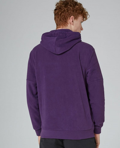 Purple Fleece Zip Neck Hoodie