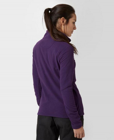 Purple-Half-Zipper-Polar-Fleece-Jacket