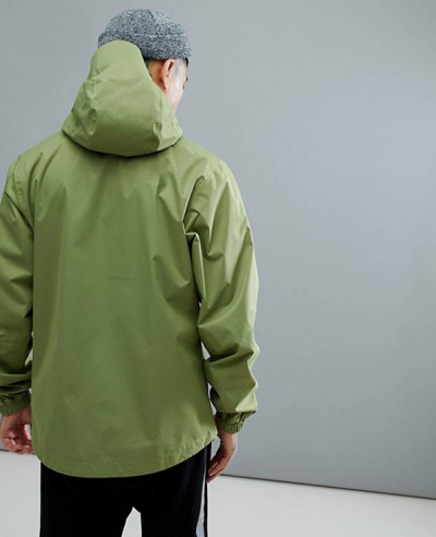 Quest Jacket Waterproof Hooded In Green Windbreaker Jacket