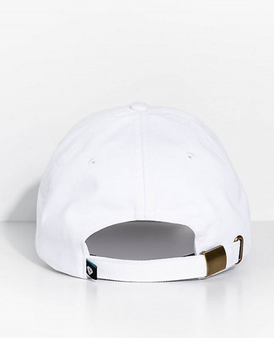 Real White Strapback Hat