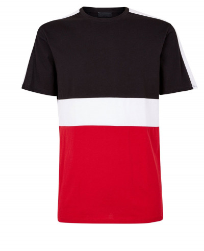 Red-Colour-Block-T-Shirt