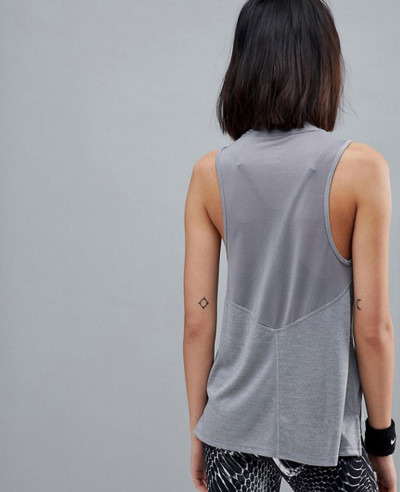 Running-Dry-Miler-Tank-In-Grey-Tank-Top