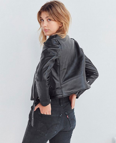 Schott Perfecto Cropped Moto Leather Jacket