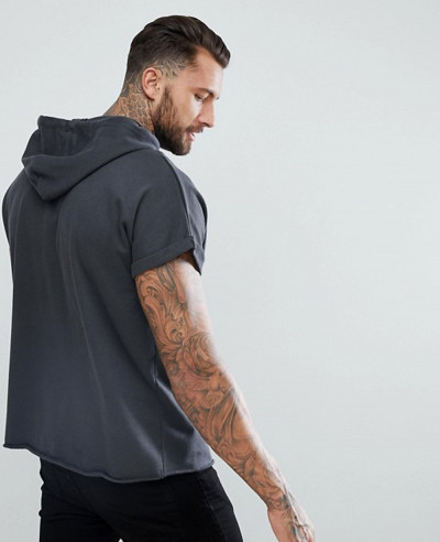 Short-Sleeve-Oversized-Hoodie-In-Washed-Black