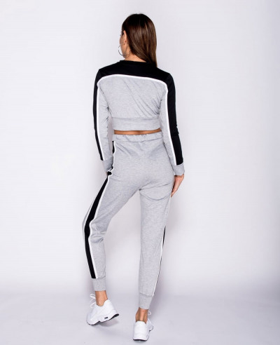 Side Stripe Crop Top & Trouser Loungeset