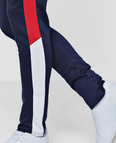 Skinny Fit Colour Block Drawcord Jogger